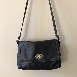 Coach Park Pebbled Leather Turnlock Crossbody